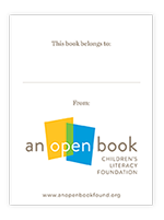 An Open Book Bookplate