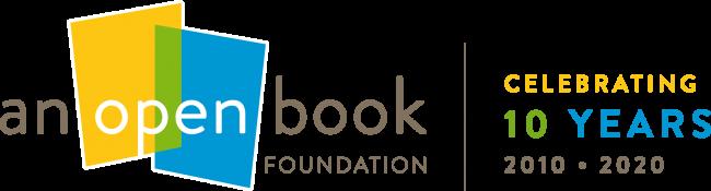An Open Book Ten Year Anniversary Logo